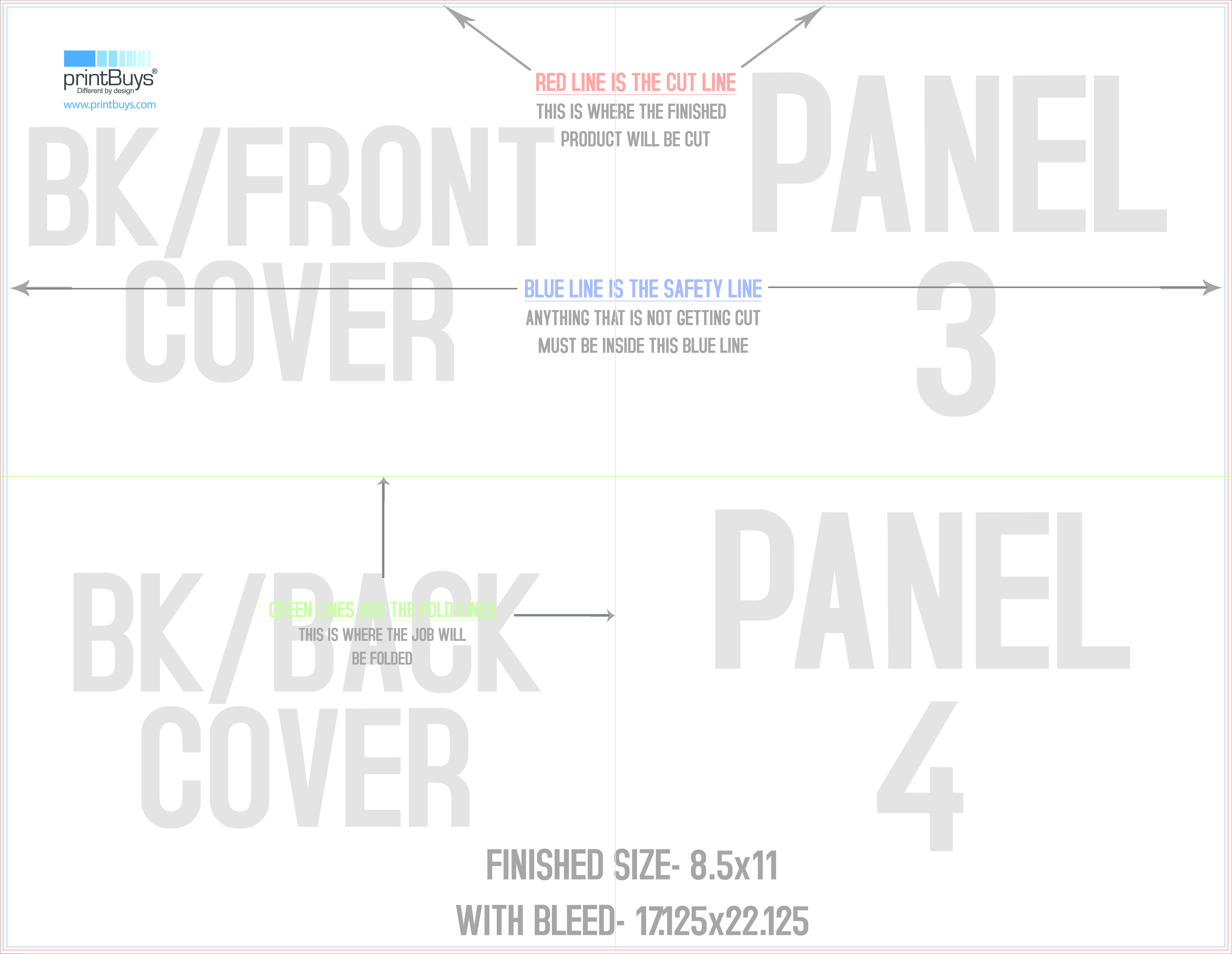 French Fold Brochure Template